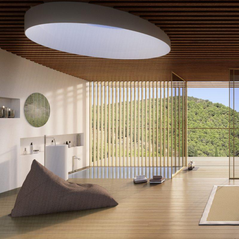 Diseño realizado por el estudio OAM Arquitectos y modelo 3d e infografías por el estudio Feeel.